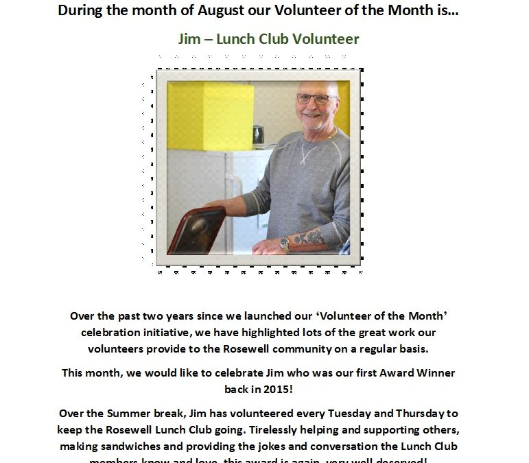 Volunteer of the Month – August
