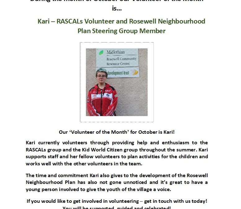 Volunteer of the Month – October