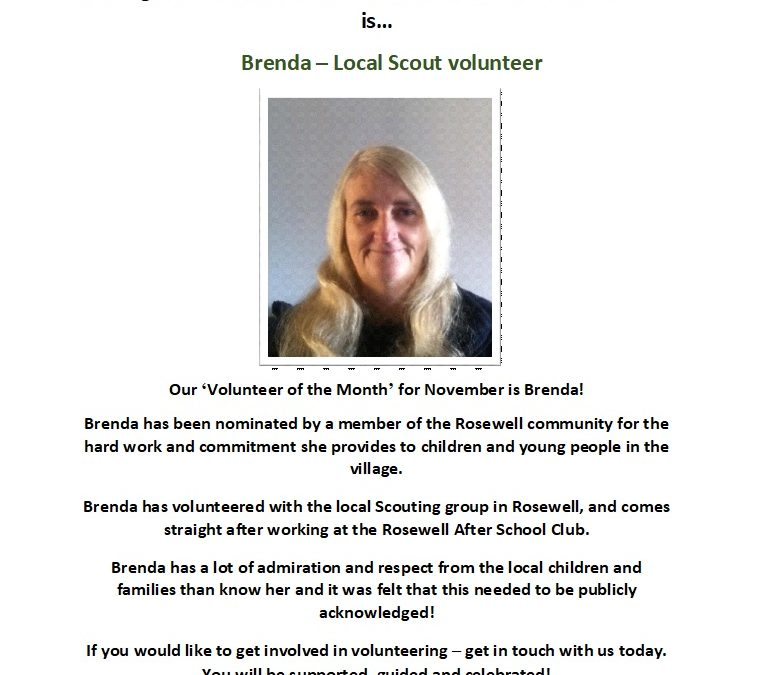 Volunteer of the Month – November