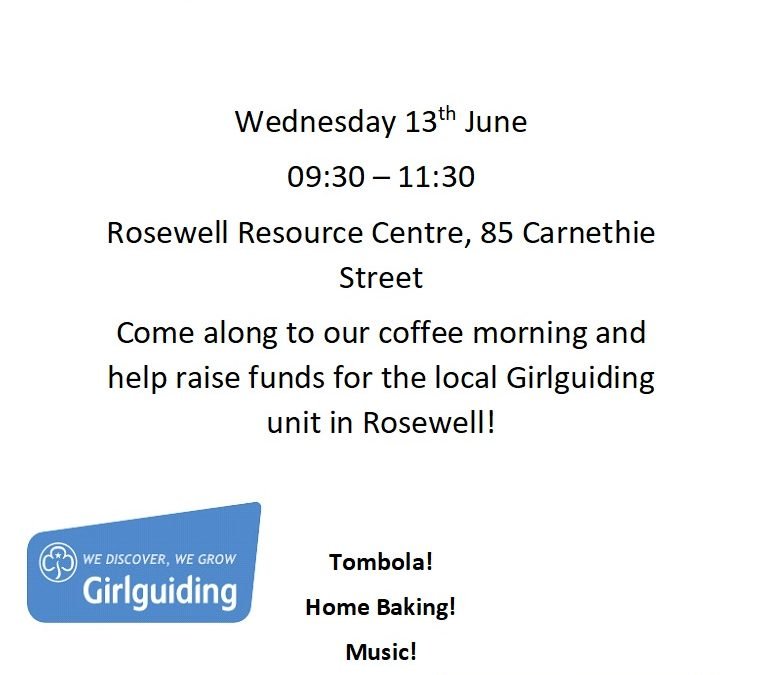 Our next Coffee Morning is in June!