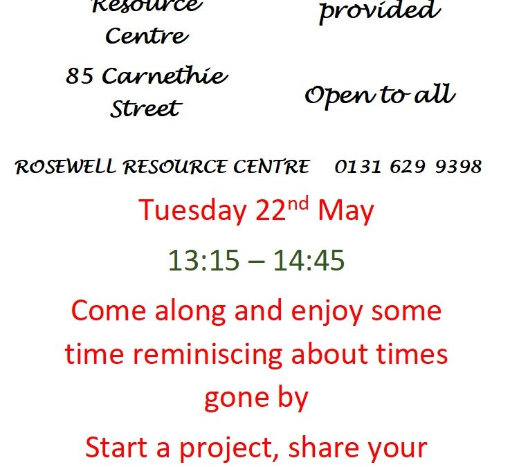Our next Rosewell History Group meets in May!